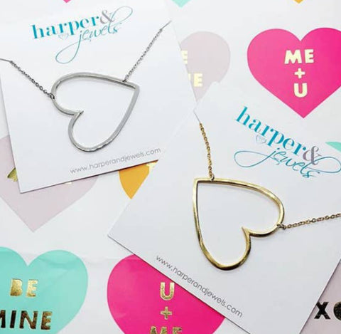 Harper  & Jewels Open Heart Necklace
