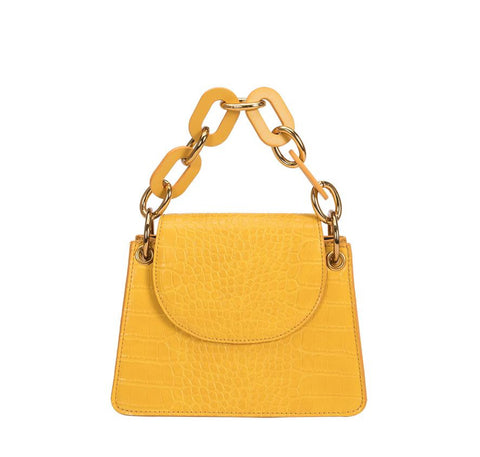 Melie Bianco Loren Handbag with Acrylic Handle
