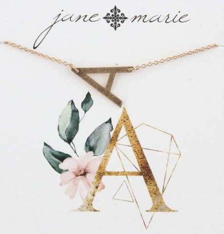 Jane Marie Sideways Initial Necklace