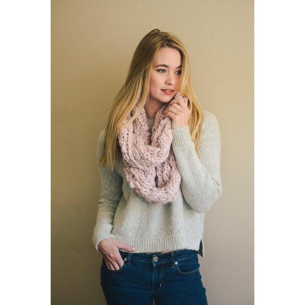 Leto Marled Chunky Knit Infinity Scarf
