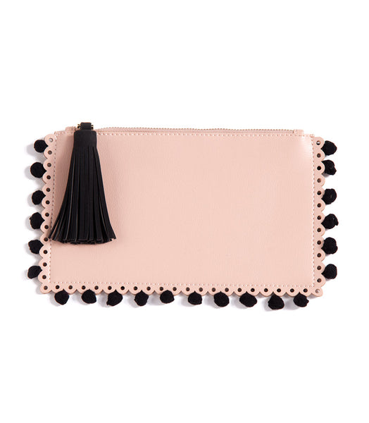 Shiraleah Chicago Lola Zip Pouch with Tassle and Pom Pom Accents