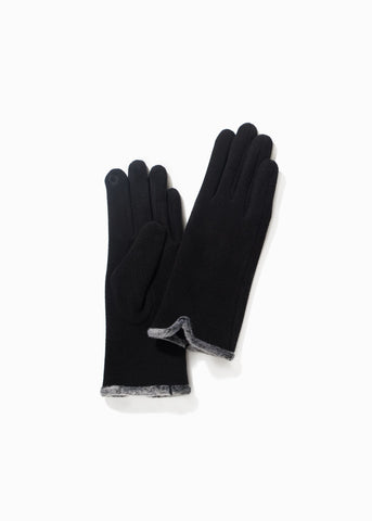 Look by M Fur Trimmed Gloves