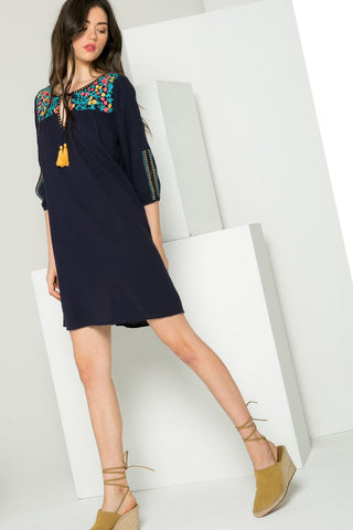 THML EMBROIDERED TUNIC DRESS