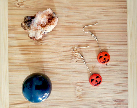 Dorise Irene Howlite Pumpkin SS Earrings