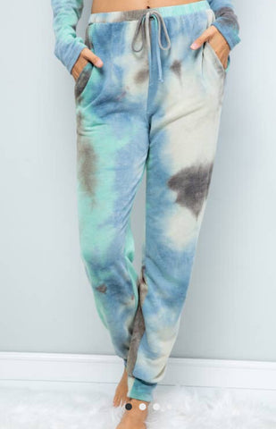 Sweet Lovely by Jen Tie Dye Print Jogger Lounge Pants-PLUS SIZE