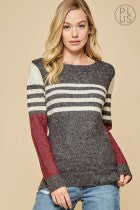 Andree by Unit Color Block Sweater PLUS SIZE-ARRIVING SOON!
