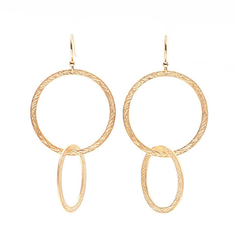 Meghan Browne Spock Double Circle Dangle Earrings