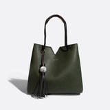 Pixie Mood Vegan Jasmine Tote with Marble Tassel Accent