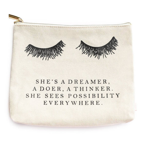 Sweet Water Decor She's a Dreamer Makeup Pouch