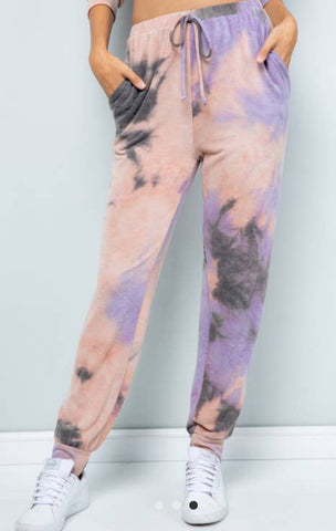 Sweet Lovely by Jen Tie Dye Jogger Lounge Pants