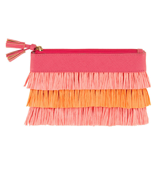 Shiraleah Chicago Allegra Fringe Zip Pouch