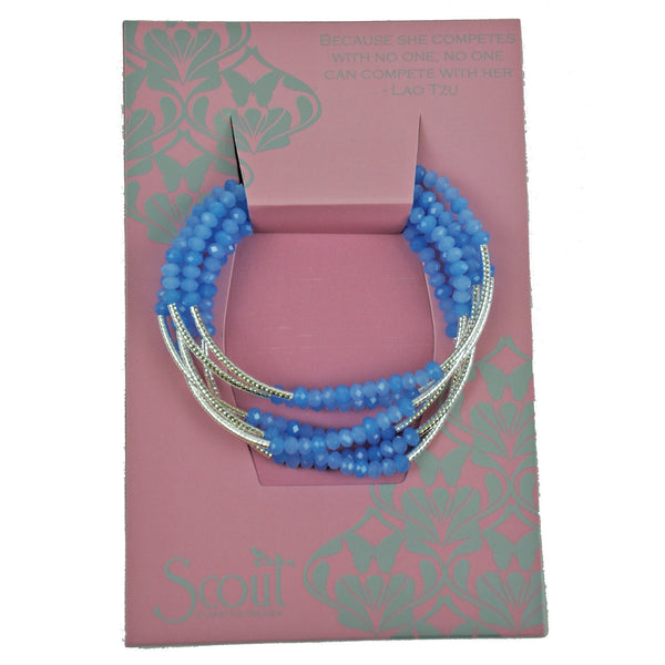 Scout Crystal Wrap Bracelet Necklace-Periwinkle/Silver