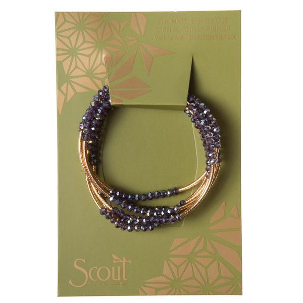Scout Crystal Wrap Bracelet Necklace-Amethyst/Gold