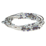Scout Crystal Wrap Bracelet Necklace-Volcano/Silver