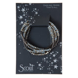 Scout Wrap Crystal Bracelet Necklace-Night Black