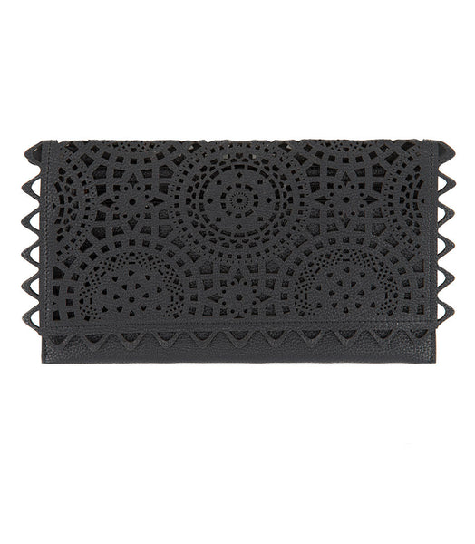 Shiraleah Chicago Helena Black Vegan Clutch