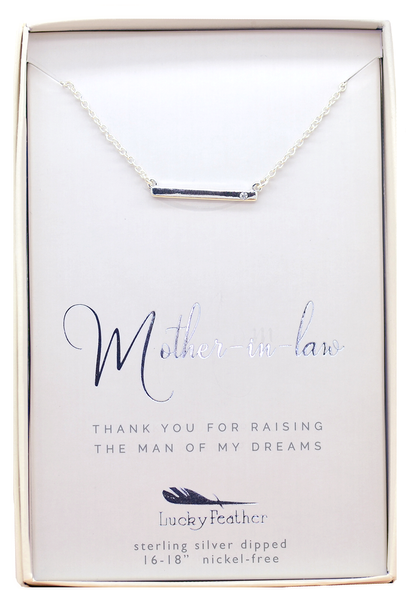 Lucky Feather Mother of Groom Necklace