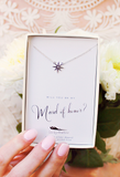 Lucky Feather Maid of Honor Necklace