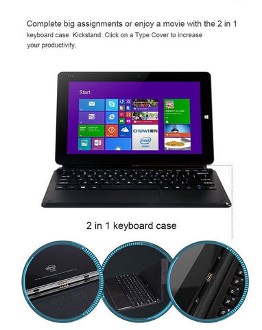 "Tablet - 2 IN 1 PC Tablet 10.6"" Chuwi VI10 Dual Boot Quad Core Wifi 2G 32GB/64G Win 8.1/ Window 10 + Android 4.4 HDMI Z3736F"