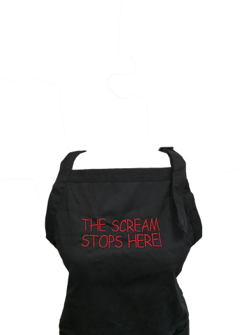 The Scream Stops Here Apron