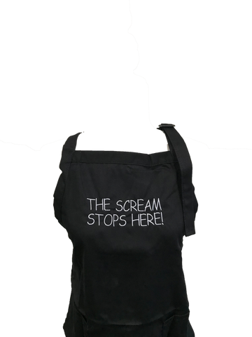 Image of The Scream Stops Here Apron