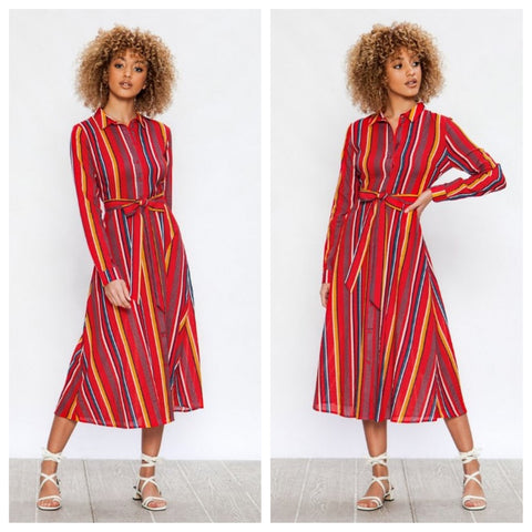 seersucker shirt dress