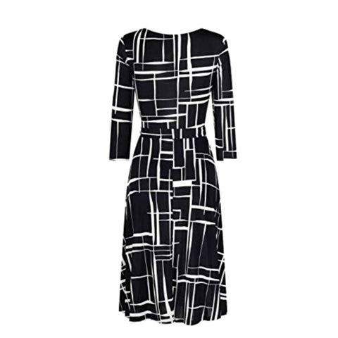 de stijl wrap dress