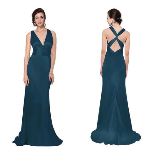 final sale | ingenue gown in teal