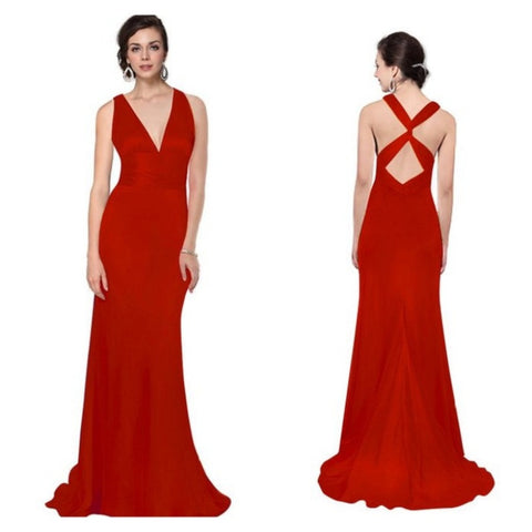 ingenue gown in ruby