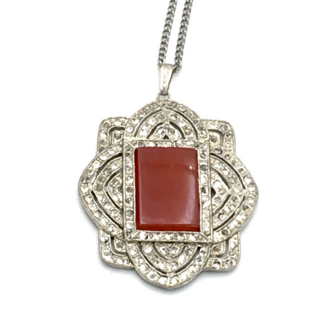 vintage 1920's art deco pendant necklace