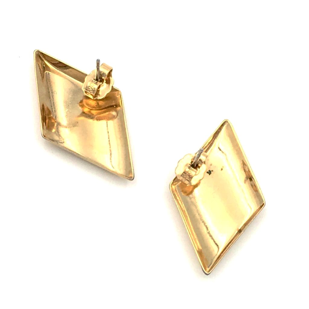 vintage golden parallel earrings