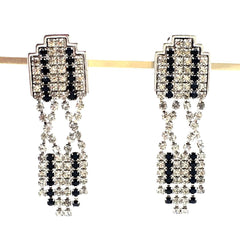 vintage art deco dangle earrings