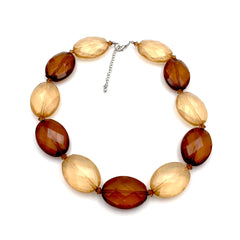 Spectacular true vintage 1960's chunky amber and honey statement necklace.