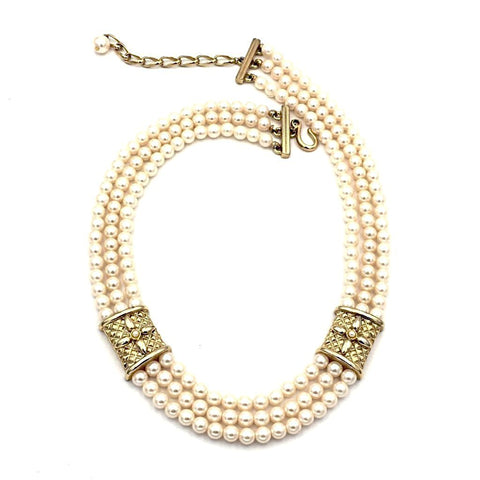 vintage multi-strand pearl necklace