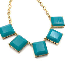 vintage teal statement necklace