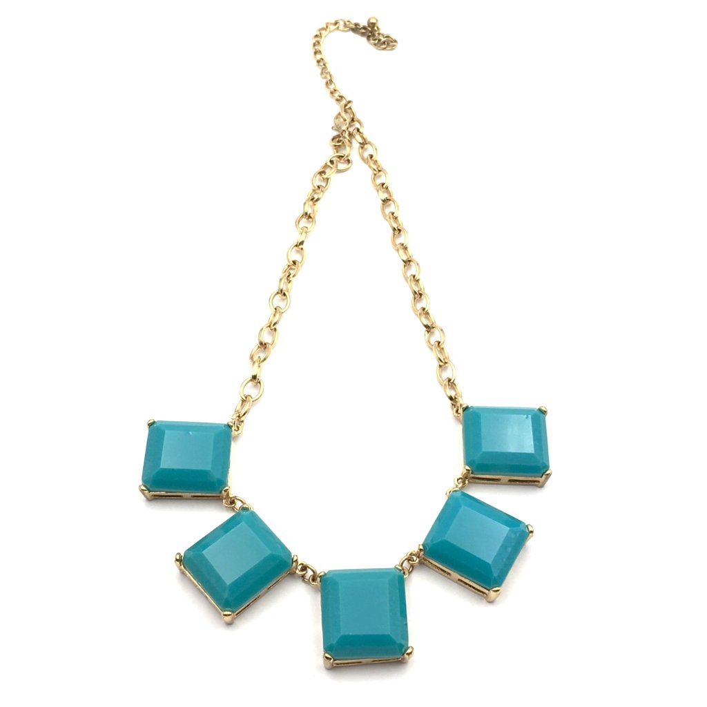 True vintage teal statement necklace.