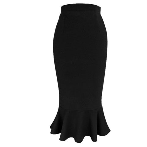 savoir-faire skirt in black