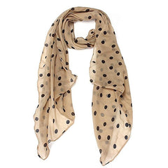 Light tan chiffon scarf.