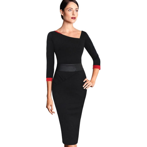 A positively spectacular modern take on the little black dress, this 40