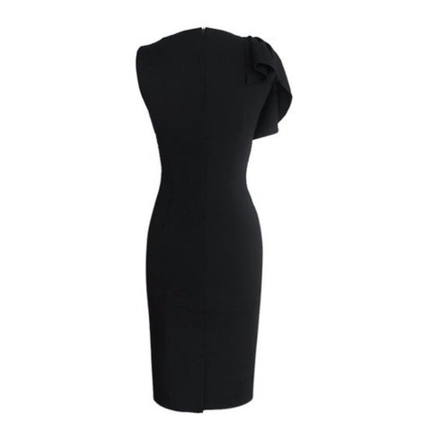 flutter sleeve sheath in black
