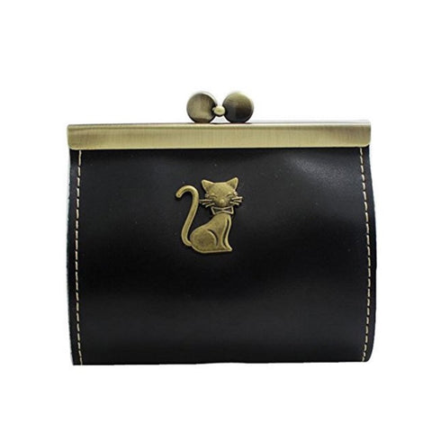 kitty clutch in black