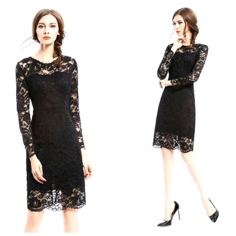 final sale | gallery dress in noir
