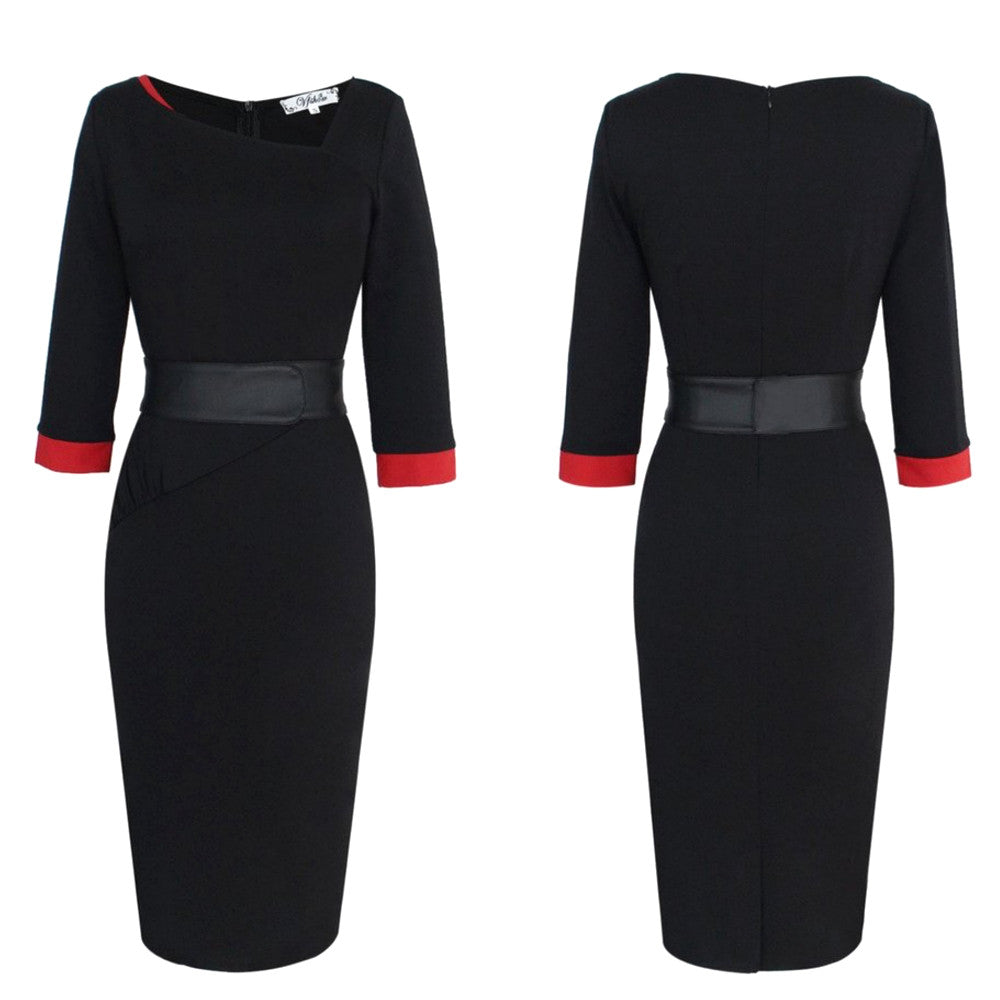 A positively spectacular modern take on the little black dress, this 40's-inspired knockout is a versatile, four-seasons must-have.