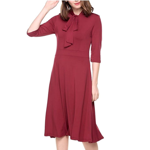 city library dress in raspberry