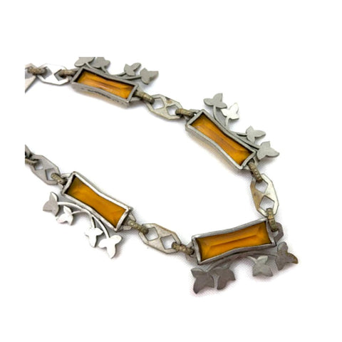 vintage 1930's topaz necklace
