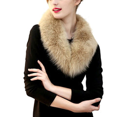 Iconic faux fox fur stole scarf.