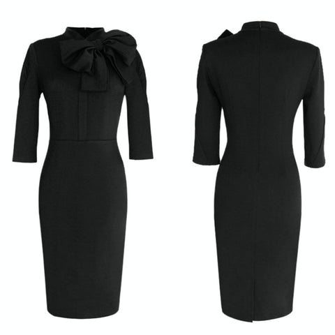 conversation starter dress in noir