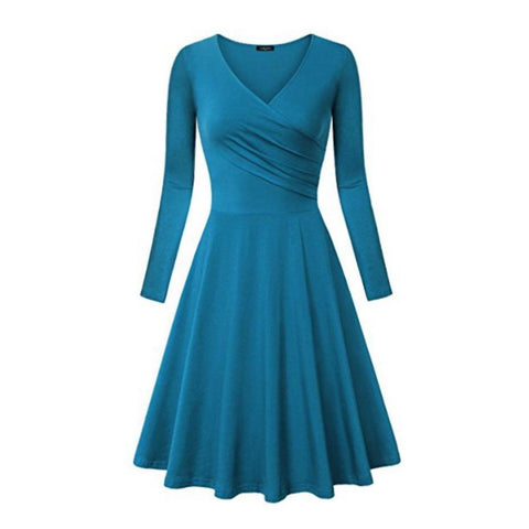 choreography dress in cyan