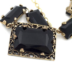 vintage art deco revival necklace