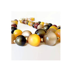 Spectacular true vintage 1960's Coro moonglow double strand necklace.